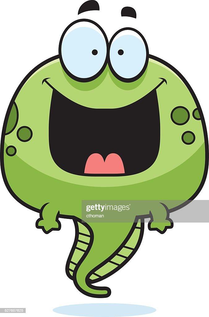 Happy Cartoon Tadpole