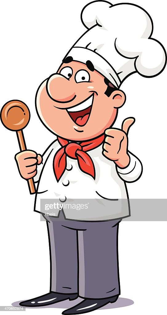 Happy Chef Gesturing Thumbs up
