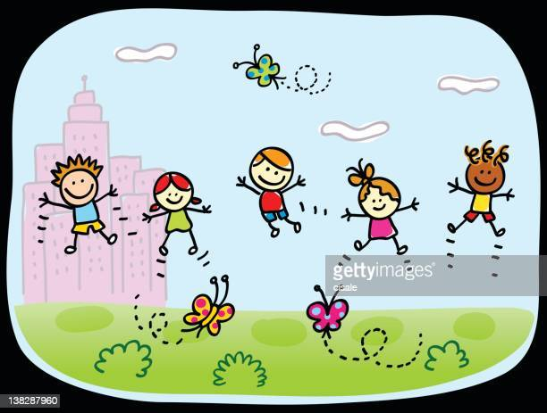 42 Young Girl Jumping For Joy Drawing High Res Illustrations Getty Images