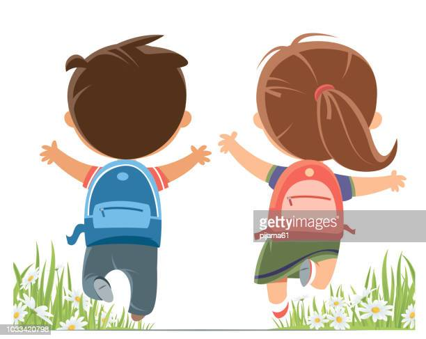 Happy Children running
