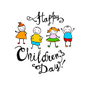 Happy Children's day. June 1 holiday card