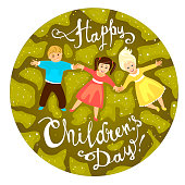 Happy Children's day. June 1 holiday