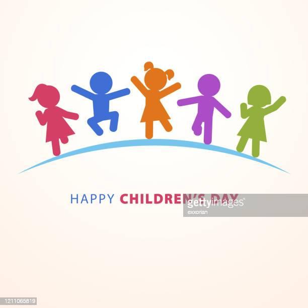 ilustrações de stock, clip art, desenhos animados e ícones de happy children's day - criança