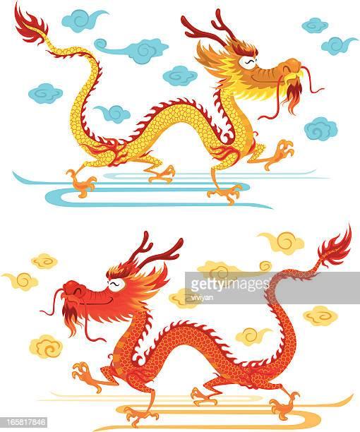 60点の中国の竜のイラスト素材クリップアート素材マンガ素材