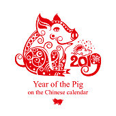 Happy Chinese New Year 2019 year of the pig.