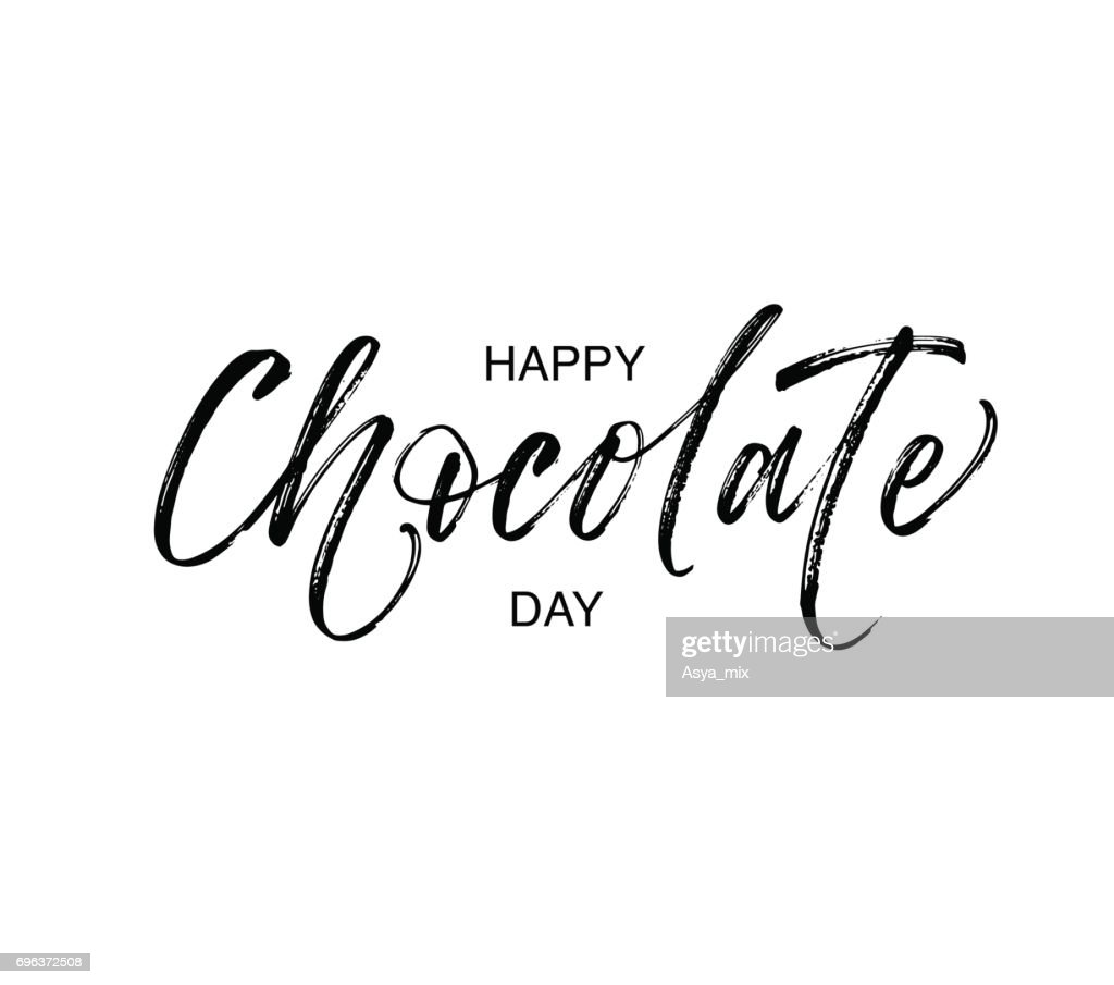 Happy chocolate day card.