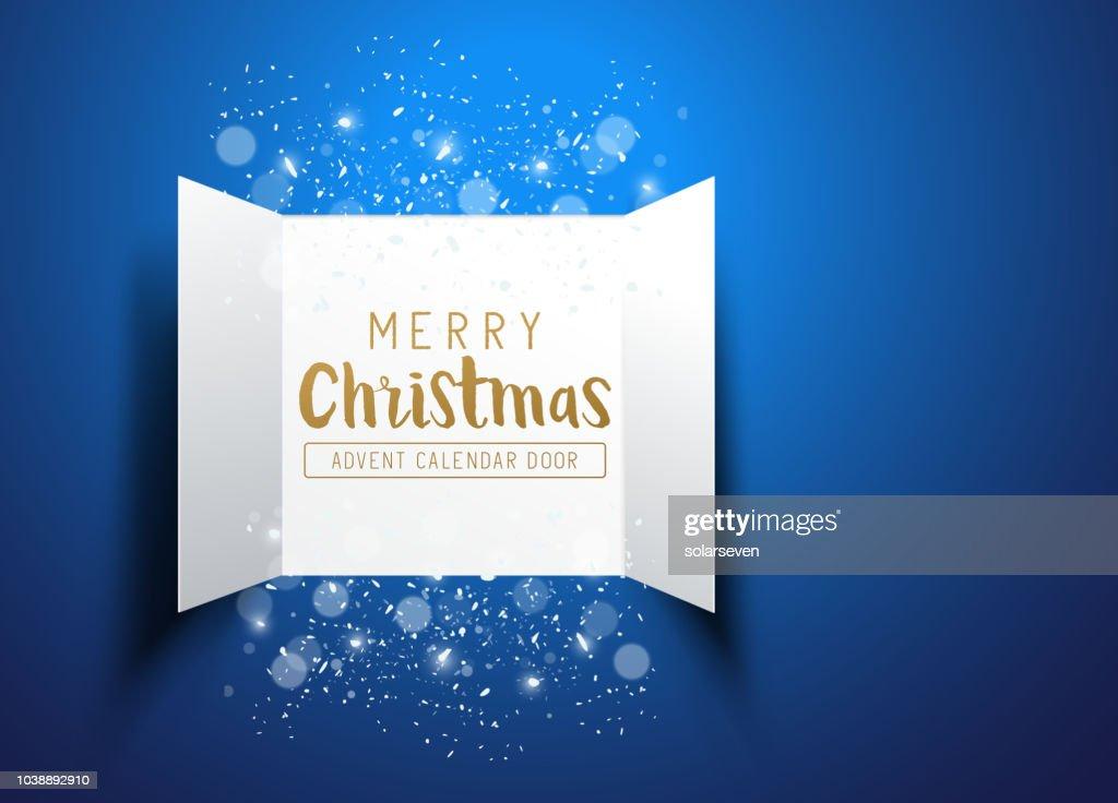 Happy Christmas Advent Calendar Doors