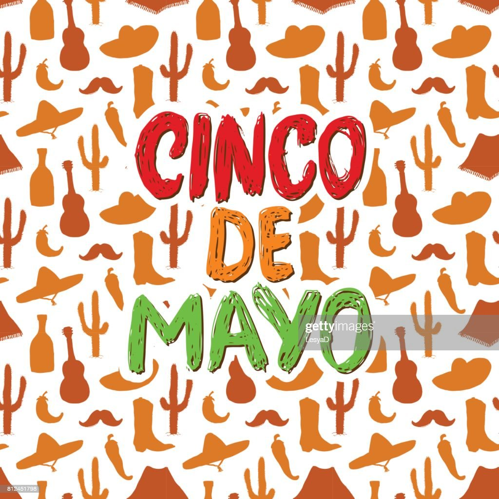Happy cinco de mayo greeting card hand lettering mexican holiday happy cinco de mayo greeting card hand lettering mexican holiday vector illustration m4hsunfo