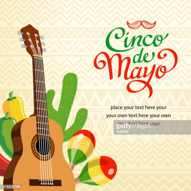 feliz cinco de mayo invitation - cinco de mayo stock illustrations
