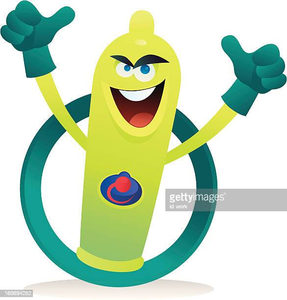 happy condom symbol - erection stock illustrations, clip art, cartoons, & icons
