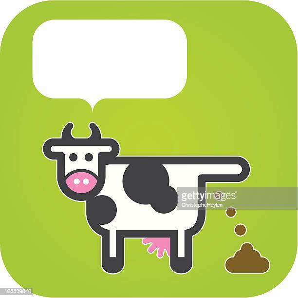 illustrazioni stock, clip art, cartoni animati e icone di tendenza di felice cow-modo di dire inglese - cacca
