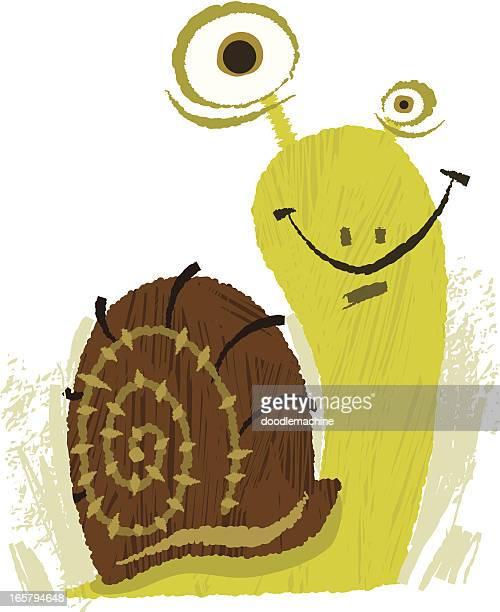 illustrations, cliparts, dessins animés et icônes de heureux critter de l'escargot choix - escargot