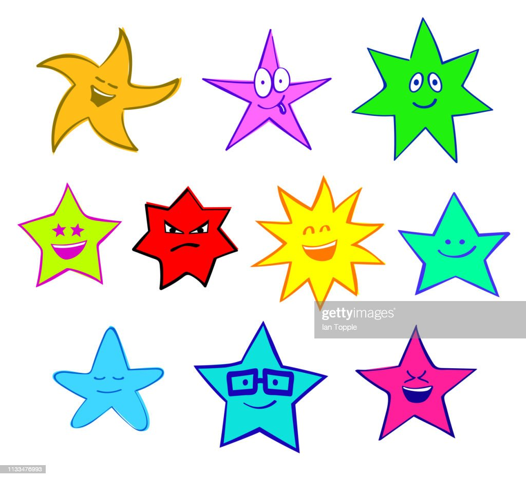 Happy Cute Smiling Fun Stars
