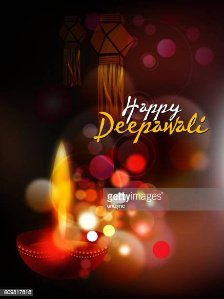 happy deepawali background - diwali stock illustrations