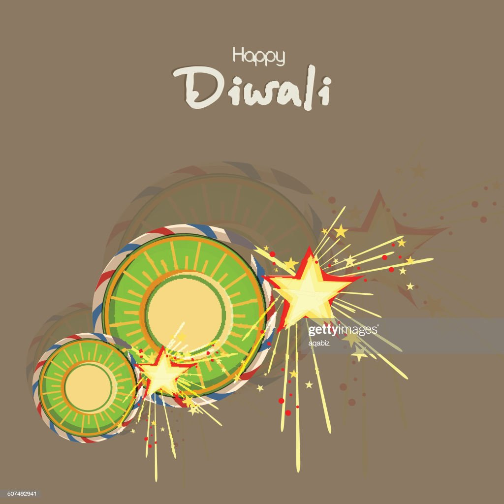 Happy Deepawali background with golden explosion from firecrackers.