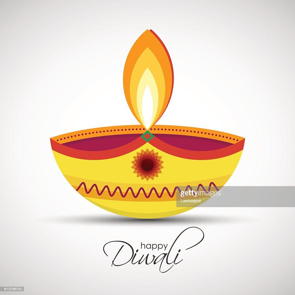 Happy Diwali Diya oil lamp