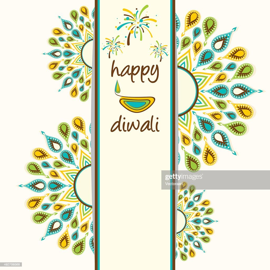 Happy Diwali Greeting Card Design Vector Art Getty Images
