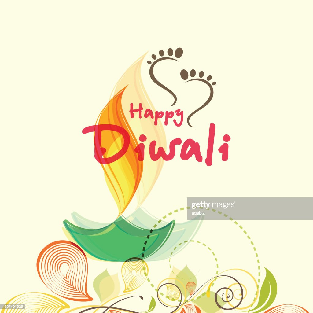Happy diwali greeting card design vector art getty images happy diwali greeting card design vector art m4hsunfo