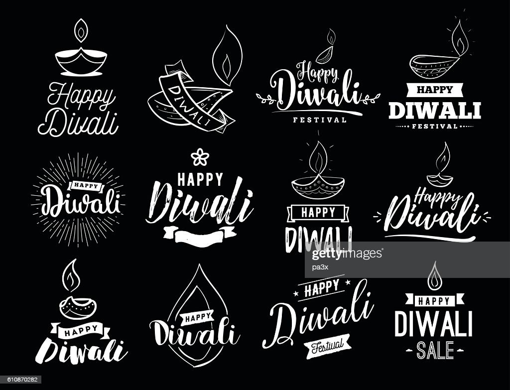 Happy Diwali typogrpahy