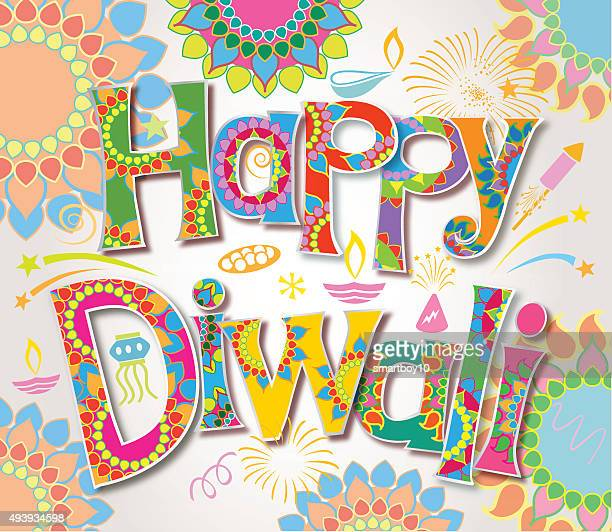 happy diwali - goddess lakshmi stock illustrations