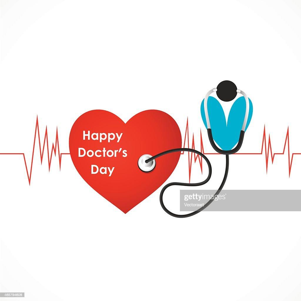 happy doctor day design vector