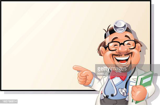 happy doctor presentation - carer stock illustrations, clip art, cartoons, & icons