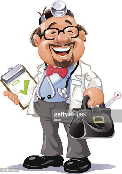 happy doctor - carer stock illustrations, clip art, cartoons, & icons