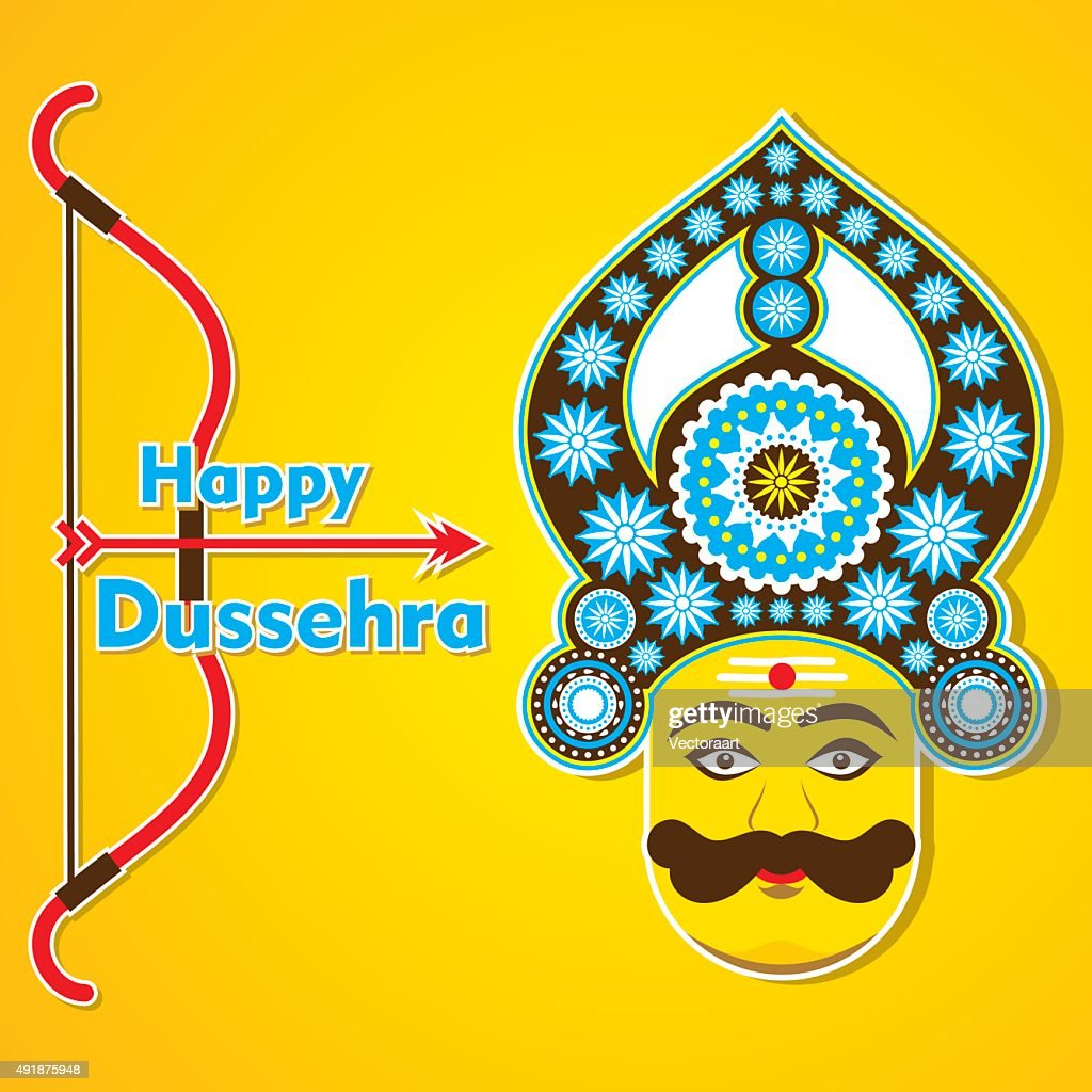 Happy Dussehra Greeting Card Design Vector Art Getty Images