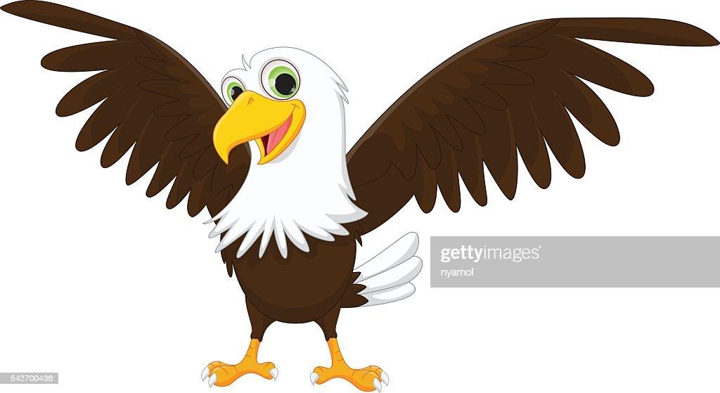 happy eagle cartoon