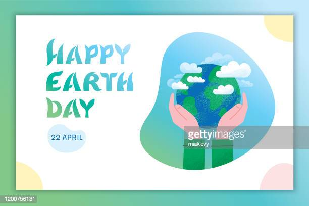 happy earth day - earth day stock illustrations