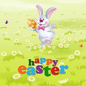 Happy Easter Bunny Dancing