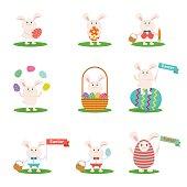 happy easter bunny set
