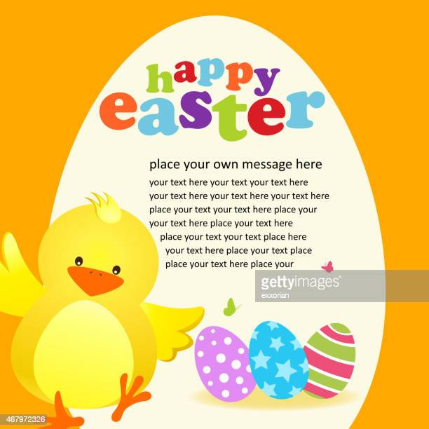 happy easter chick invitation for easter - easter egg hunt stock illustrations, clip art, cartoons, & icons
