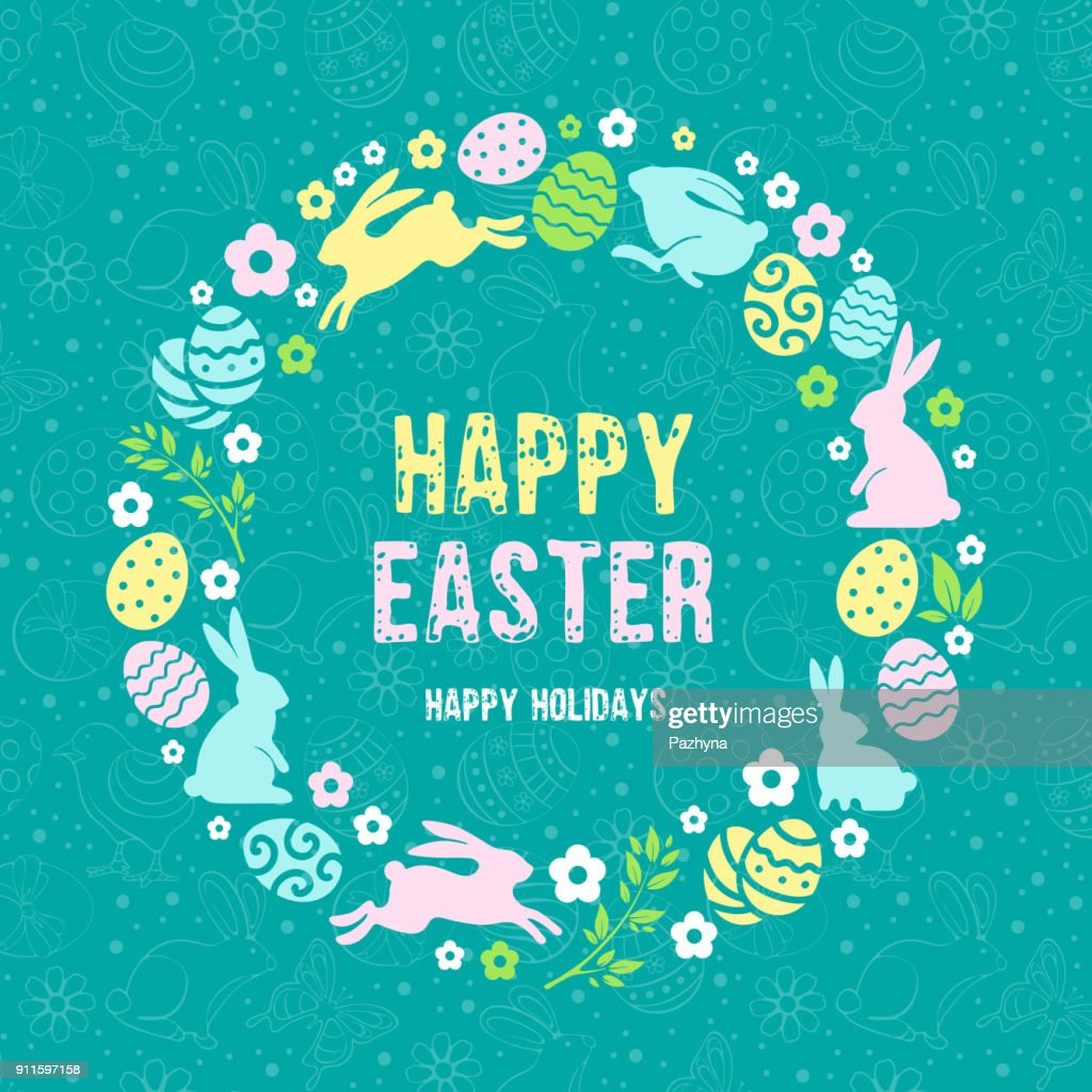 Happy Easter congratulation