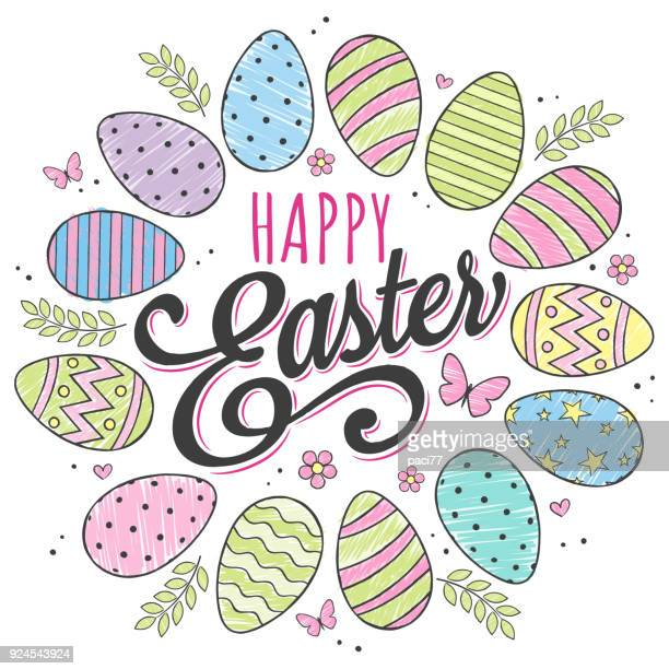 happy easter design - easter stock illustrations