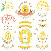 Happy Easter Floral Set