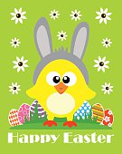 Happy Easter ,funny chicken