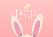 happy easter greeting card with easter bunny