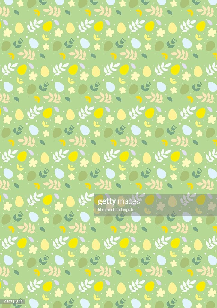 Happy Easter seamless pattern green