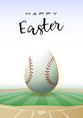 Happy Easter. Sports greeting card. Baseball.