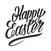 Happy Easter typographic lettering template