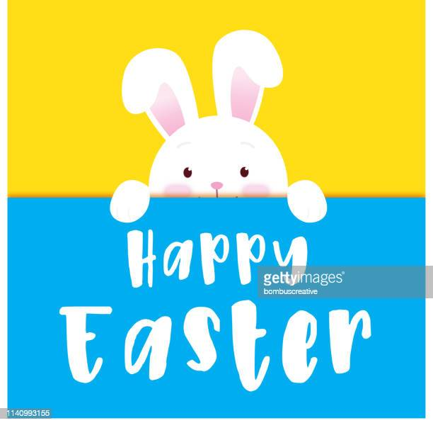 happy easter - easter stock illustrations