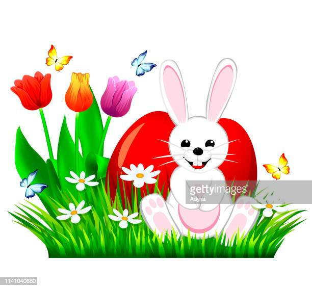 happy easter - easter bunny stock illustrations