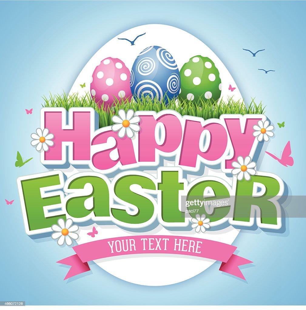 Happy Easter : Vector Art