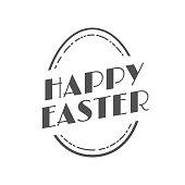 Happy Easter Vintage Festive Label