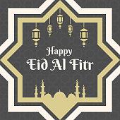 Happy eid al fitr card, poster