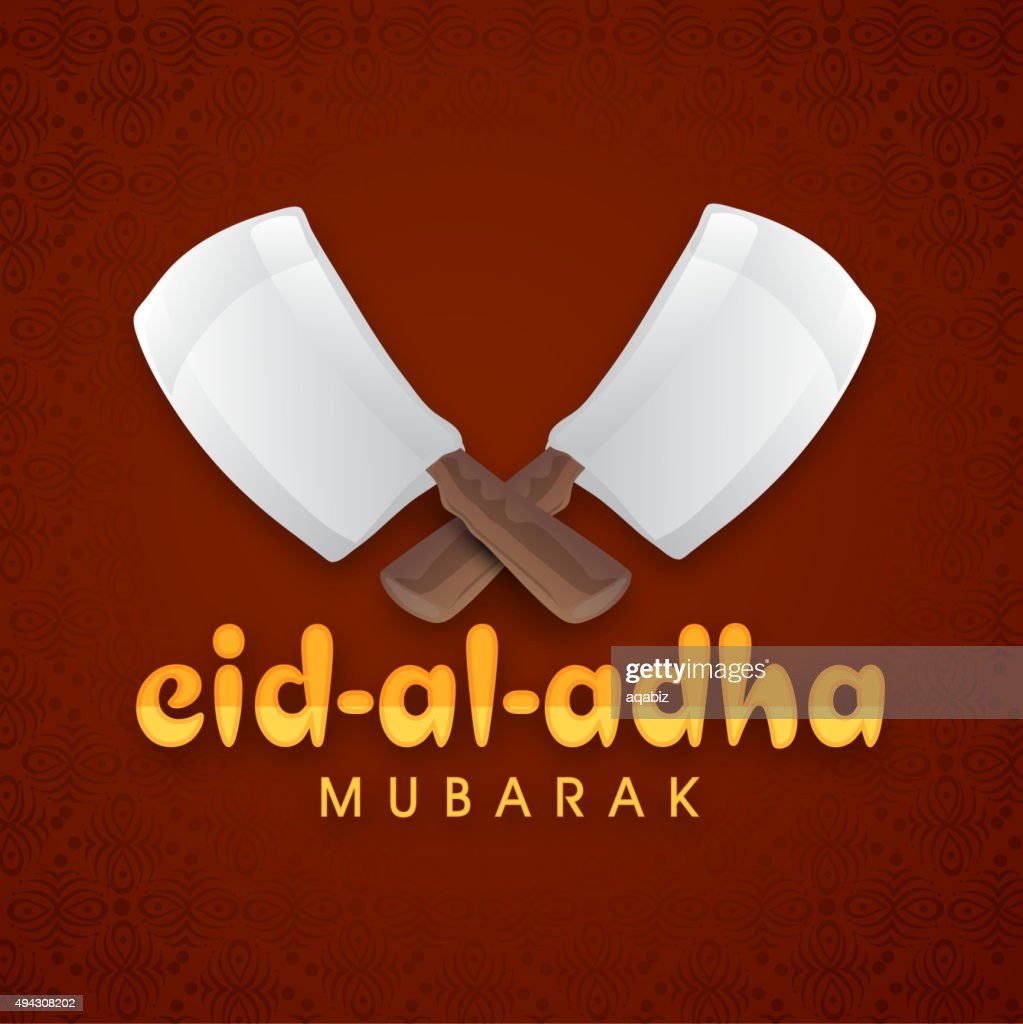 Happy Eid-Al-Adha celebration with chopper.