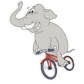 Happy elephant riding bicycle 2
