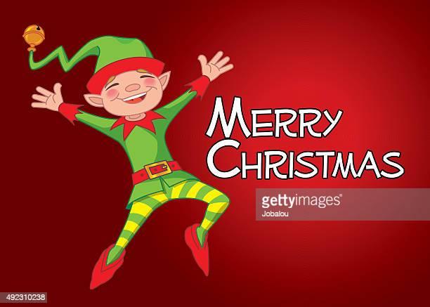 Happy Elf Announces Christmas