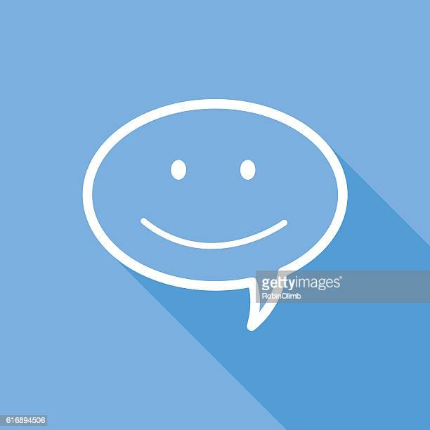 Happy Face Speech Bubble